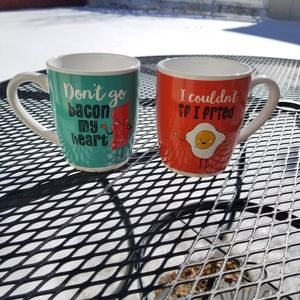 American Atelier bacon and eggs couples mugs